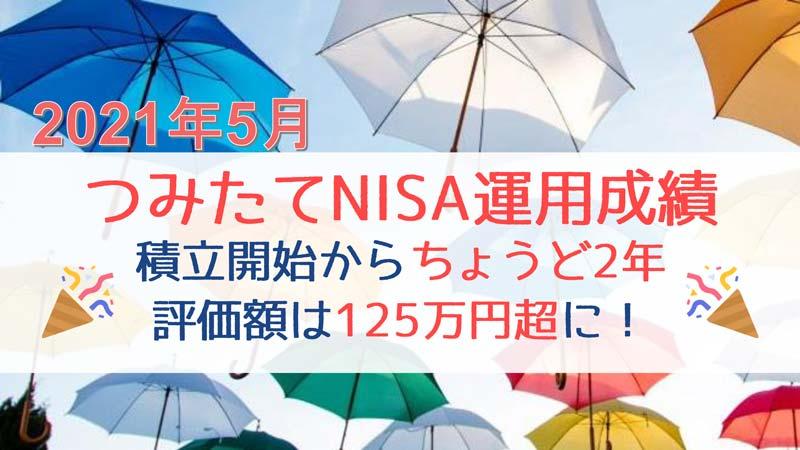 2021年5月つみたてNISA運用成績アイキャッチ